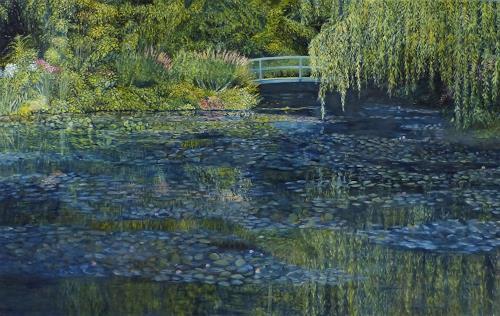 Theresia Züllig, Besuch in Monets Garten, Landschaft, Natur: Erde, Impressionismus, Expressionismus