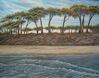 Theresia-Zuellig-Landschaft-See-Meer-Pflanzen-Baeume-Moderne-Impressionismus