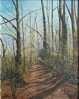 Theresia-Zuellig-Landschaft-Fruehling-Pflanzen-Baeume-Moderne-Impressionismus