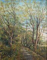 Theresia-Zuellig-Landschaft-Sommer-Pflanzen-Baeume-Moderne-Impressionismus