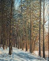 Theresia-Zuellig-Landschaft-Winter-Pflanzen-Baeume-Moderne-Impressionismus