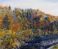 Theresia-Zuellig-Landschaft-Herbst-Pflanzen-Baeume-Moderne-Impressionismus