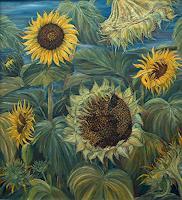 Theresia-Zuellig-Pflanzen-Blumen-Diverse-Pflanzen-Moderne-Impressionismus