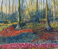 Theresia-Zuellig-Pflanzen-Blumen-Natur-Diverse-Moderne-Impressionismus