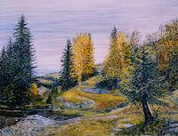 Theresia-Zuellig-Natur-Wald-Pflanzen-Baeume-Moderne-Impressionismus