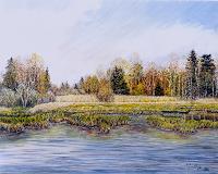 Theresia-Zuellig-Landschaft-Herbst-Natur-Wasser-Moderne-Impressionismus