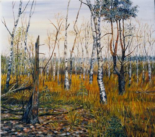 Theresia Züllig, wilde Natur, Landschaft: Herbst, Pflanzen: Bäume, Impressionismus