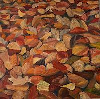 Theresia-Zuellig-Diverse-Pflanzen-Landschaft-Herbst-Moderne-Impressionismus