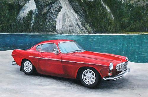 Theresia Züllig, Volvo1968 am Alpsee, Verkehr: Auto, Technik, Naturalismus
