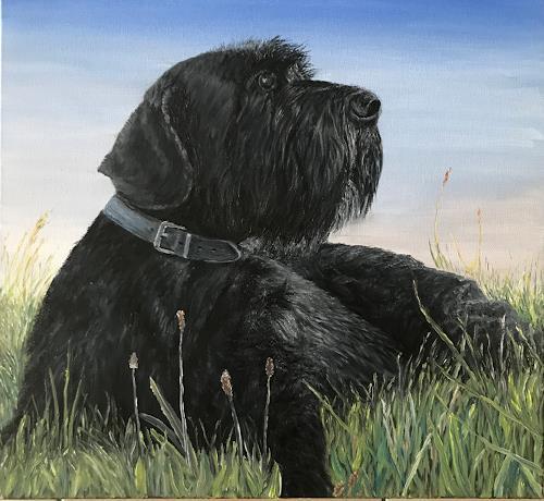 Theresia Züllig, Hund eines Freundes, Diverse Tiere, Tiere: Land, Naturalismus