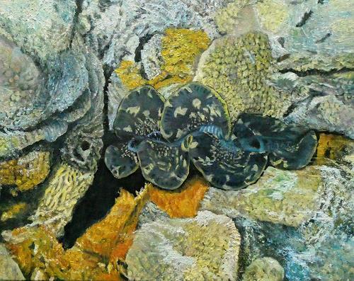Theresia Züllig, Muschelwunder auf Mihiri, Natur: Wasser, Landschaft: See/Meer, Naturalismus