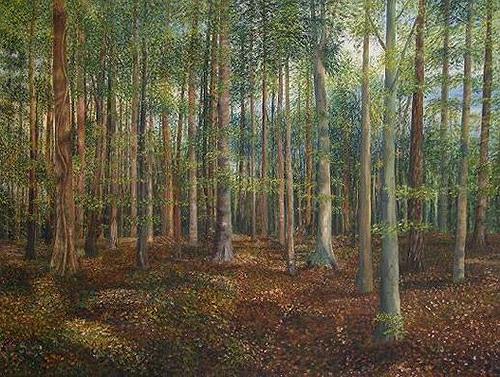 Theresia Züllig, Sommerwald, Pflanzen: Bäume, Natur: Wald, Naturalismus, Naturalismus, Expressionismus