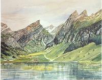 Theresia-Zuellig-Landschaft-Berge-Natur-Wasser-Moderne-Naturalismus