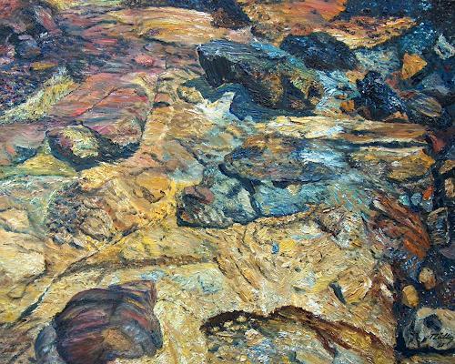 Theresia Züllig, Mineralsteine Elba, Natur: Gestein, Diverse Landschaften, Naturalismus, Expressionismus