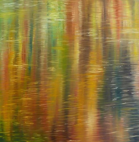 Theresia Züllig, Herbstspiegelung, Natur: Wasser, Landschaft: See/Meer, Naturalismus