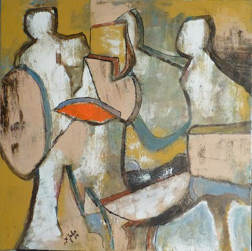 Jahn dArte (Klaus Eduard Jahn), Gruppe, Gesellschaft, Abstrakter Expressionismus
