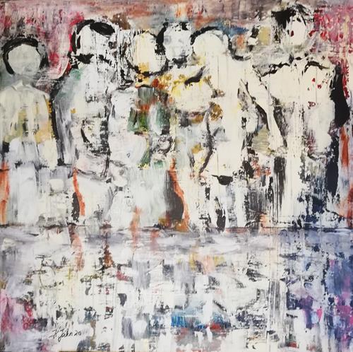 Jahn dArte (Klaus Eduard Jahn), Geisterspiele, Menschen: Gruppe, Avantgarde, Abstrakter Expressionismus