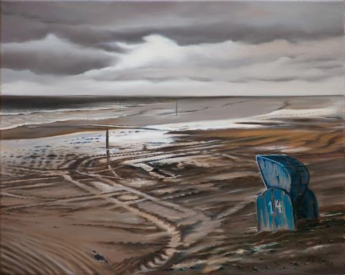 ingo platte, Spuren, Landschaft: See/Meer, Zeiten: Zukunft, Fotorealismus, Abstrakter Expressionismus