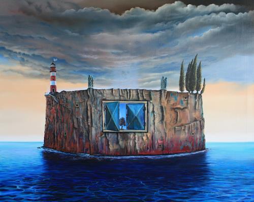 ingo platte, Die Festung, Mythologie, Landschaft: See/Meer, Postsurrealismus