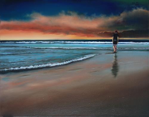 ingo platte, allein, Situationen, Natur: Wasser, Realismus, Expressionismus