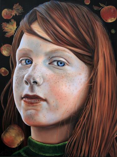 ingo platte, Apfelzeit, Ernte, Menschen: Porträt, Realismus, Expressionismus