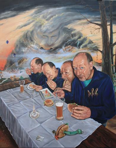 ingo platte, Schlaraffenland, Märchen, Fantasie, Postsurrealismus, Abstrakter Expressionismus