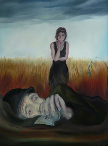 ingo platte, Soldat, Krieg, Tod/Krankheit, expressiver Realismus, Abstrakter Expressionismus