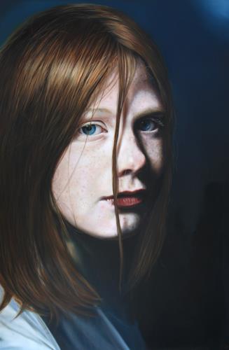 ingo platte, Dreaming, Menschen: Gesichter, Gefühle: Geborgenheit, Hyperrealismus, Expressionismus