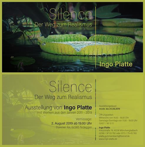 ingo platte, Plakat zur Ausstellung, Landschaft: Tropisch, Diverse Pflanzen, Hyperrealismus