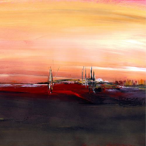 katarina niksic, Die vorletzte Station, Landschaft: Ebene, Abstrakter Expressionismus, Expressionismus