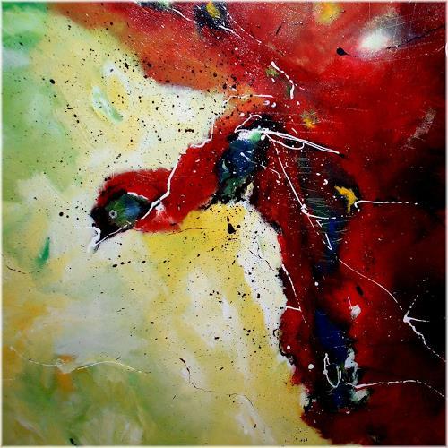 katarina niksic, Der Vogel, Tiere: Luft, Abstrakter Expressionismus