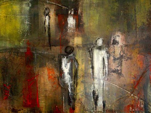 katarina niksic, Dialoge, Abstraktes, Abstrakte Kunst, Abstrakter Expressionismus