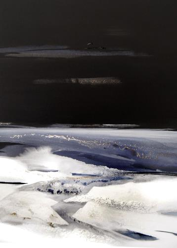 Conny Niehoff, Nachts am Meer, Landschaft: See/Meer, Abstrakter Expressionismus