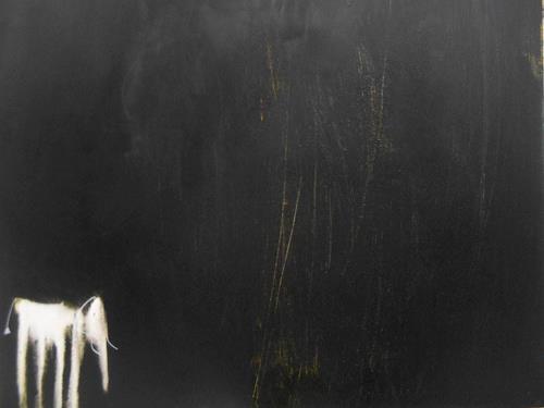 Conny Niehoff, Kleiner Elefant kann nicht schlafen, Abstraktes, Tiere, Abstrakter Expressionismus