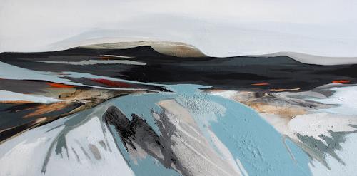 Conny Niehoff, Island 5, 50/100 cm, Landschaft: Berge, Abstrakte Kunst, Expressionismus