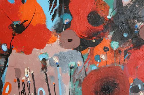 Conny Niehoff, Am Feldrand, Pflanzen: Blumen, Abstrakte Kunst