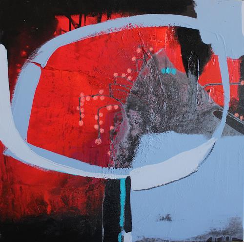 Conny Niehoff, Sommernacht am See, Abstraktes, Abstrakte Kunst, Abstrakter Expressionismus