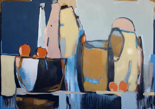 Conny Niehoff, O/T, Stilleben, Abstrakte Kunst, Expressionismus
