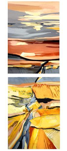 Conny Niehoff, Herbst im Land, Abstraktes, Abstrakte Kunst