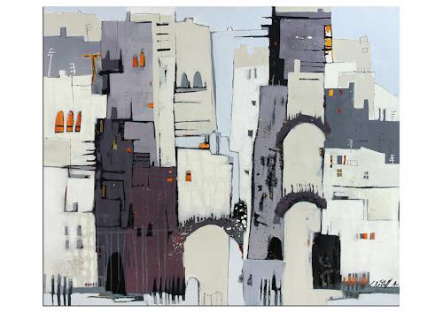 Conny Niehoff, Hinauf in die Altstadt, Abstraktes, Abstrakte Kunst