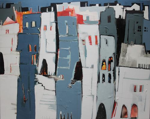 Conny Niehoff, Altstadt in P., Abstraktes, Abstrakte Kunst