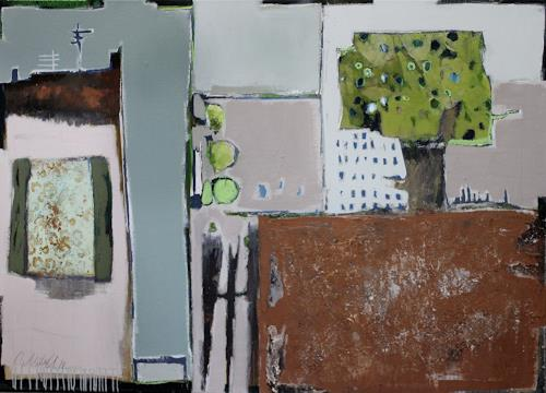Conny Niehoff, Der alte Pflaumenbaum, Abstraktes, Naive Kunst, Expressionismus
