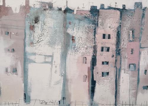 Conny Niehoff, STADT, Abstraktes, Abstrakte Kunst, Expressionismus