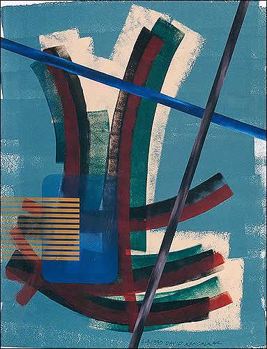 David Kandalkar, ohne Titel, Abstrakte Kunst, Expressionismus