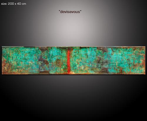 Paul Sinus, devicavous, Abstraktes, Industrie, Action Painting