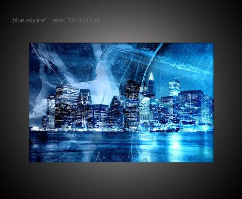 Paul sinus blue skyline mit einem klick auf als kunstkarte