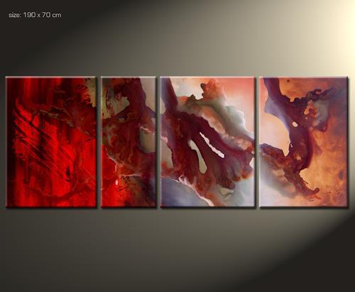 Paul Sinus, Omar 5, Abstraktes, Action Painting