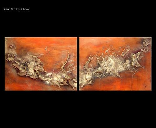 Paul Sinus, VESUV 3, Abstraktes, Action Painting