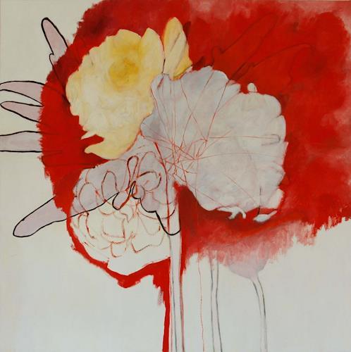 Nadja Spalinger, ohne Titel, Pflanzen: Blumen, Diverse Erotik, Abstrakter Expressionismus