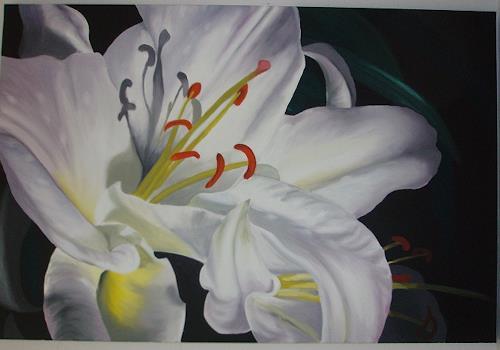 Silvia Jelitto, mystery Lily, Pflanzen: Blumen, Fotorealismus, Expressionismus